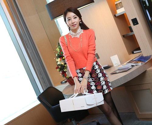 Chân váy dạ Hàn duyên dáng ngày đông