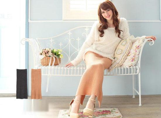 Chân váy Midi mùa lạnh