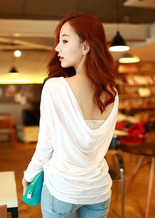 Sành điệu với áo thun trắng